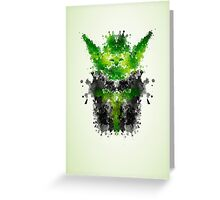 Rorschach Yoda Greeting Card