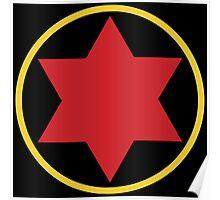 Black Widow Logo Redesign Poster