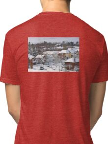 The Morning after a Big Snowstorm in Toronto, ON, Canada Tri-blend T-Shirt