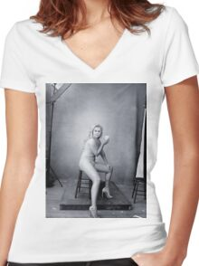 Amy Schumer by Annie Leibovitz Women's Fitted V-Neck T-Shirt