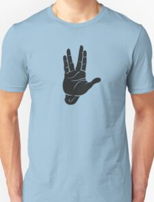 Spocks Hand Galaxy Unisex T-Shirt