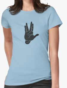 Spocks Hand Galaxy Womens Fitted T-Shirt