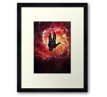 Spocks Hand Galaxy Framed Print