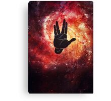 Spocks Hand Galaxy Canvas Print