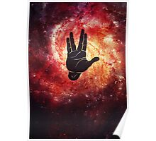 Spocks Hand Galaxy Poster