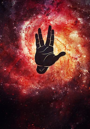 Spocks Hand Galaxy by badbugs