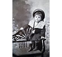 The cute little boy Photographic Print
