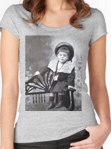 The cute little boy Women's Fitted Scoop T-Shirt