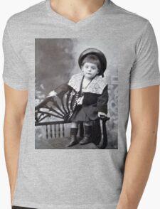 The cute little boy Mens V-Neck T-Shirt