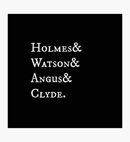 Elementary Holmes & Watson Antique Photographic Print