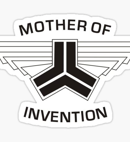 Red vs blue: Mother of Invention Sticker