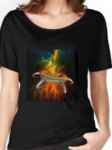Alien City In Space Women's Relaxed Fit T-Shirt