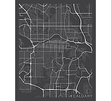 Calgary Map, Canada - Gray Photographic Print