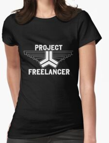 Red vs Blue: Project Freelancer (white) Womens Fitted T-Shirt