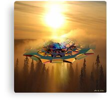 Ufo in the sky Canvas Print