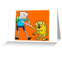 Adventure Time with Dr. Seuss Greeting Card
