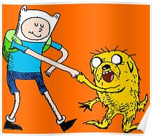 Adventure Time with Dr. Seuss Poster