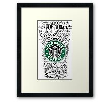 Typo Coffee Cup Framed Print