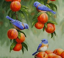 Bluebirds and Peaches by csforest
