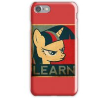 "twilight sparkle ""learn"" iPhone Case/Skin"