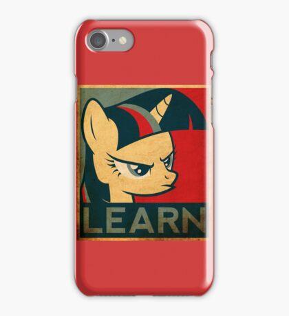 "twilight sparkle ""learn"" iPhone Case/Skin"