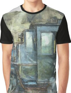 Steam Engine Railway Train Graphic T-Shirt