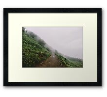 We Love the Fog Way Framed Print