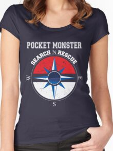 Pocket Monster Search N Rescue Pokemon Go Women's Fitted Scoop T-Shirt