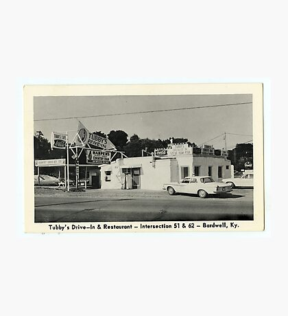 Tubby's Drive-In & Restraurant, Intersection 51 & 62, Bardwell, KY. Photographic Print