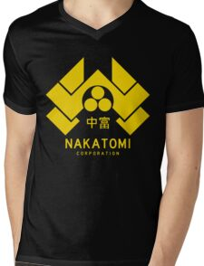 Nakatomi Corporation Mens V-Neck T-Shirt