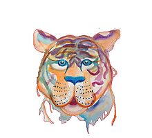 Watercolor Tiger by madisoncenter