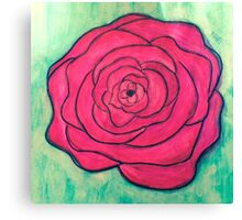 Rose Doodle Canvas Print