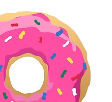 Simpsons Iconic Doughnut  by DaveMillsDesign