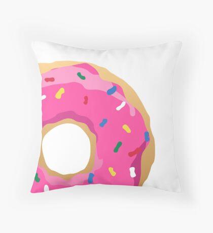 Simpsons Iconic Doughnut  Throw Pillow