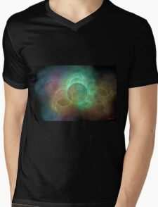 Glowing circles abstarct Mens V-Neck T-Shirt