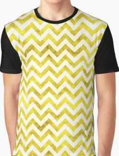 Chevron Pattern, Chevron Print, in yellow and white Graphic T-Shirt