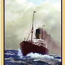 Steam ship poster by Gerard Mignot