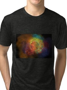 Rainbow colored abstarct Tri-blend T-Shirt