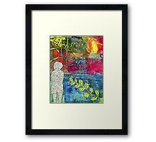 CREATIVITY is the Best Therapy! Framed Print