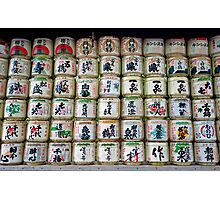Sake Barrels  Photographic Print