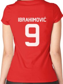 Ibrahimovic #9  Women's Fitted Scoop T-Shirt