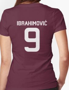 Ibrahimovic #9  Womens Fitted T-Shirt