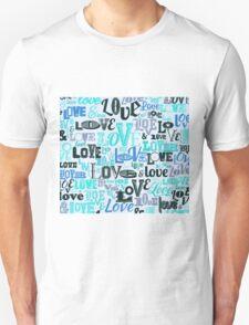 Vintage LOVE, Retro LOVE, pattern, print Unisex T-Shirt
