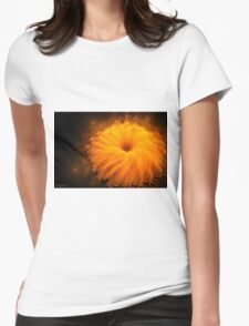 Beautiful orange flower Womens Fitted T-Shirt