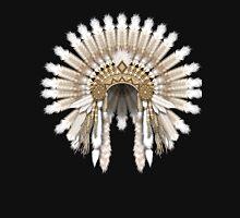 White Native American Chief's Warrior Headdress Unisex T-Shirt