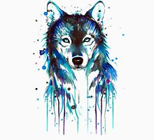 Blue Wolf Mens V-Neck T-Shirt