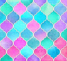 Bright Moroccan Morning - pretty pastel color pattern by micklyn