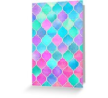 Bright Moroccan Morning - pretty pastel color pattern Greeting Card