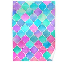 Bright Moroccan Morning - pretty pastel color pattern Poster