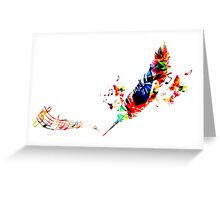 Feather Music Greeting Card